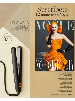 12 numeros revista Vogue + PLANCHA DE PELO ROWENTA