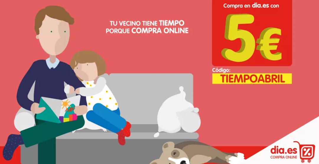 5€ de descuento para DIA online.