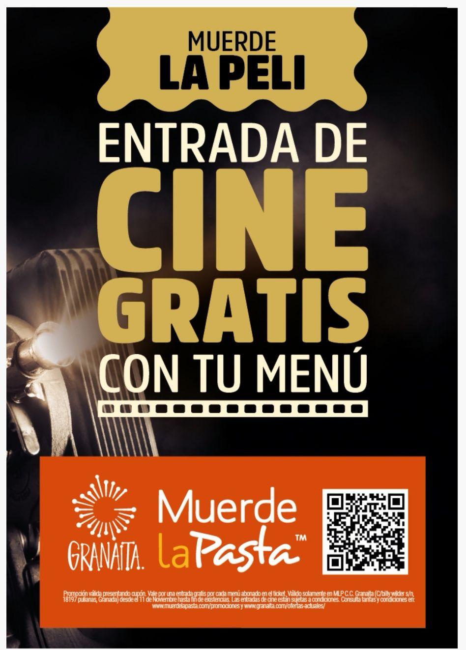 Cine gratis al cenar en Muerde la Pasta (Kinepolis Granada)