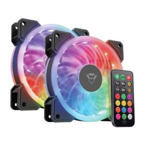 2x Ventiladores TRUST RGB solo 16.9€