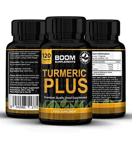 120 Cápsulas de Cúrcuma con Pimienta Negra | 4 meses completos de suministro | Pérdida de grasa