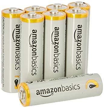 AmazonBasics - Pilas alcalinas AA 'Performance' (Paquete de 8) - Diseño variable