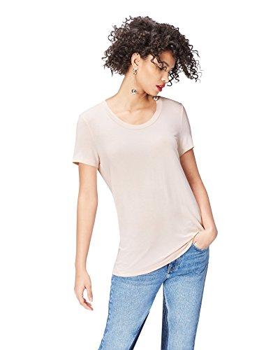 (PLUS) - TALLAS 38 y 40 (S y M) - find. Camiseta con Cuello Redondo Mujer