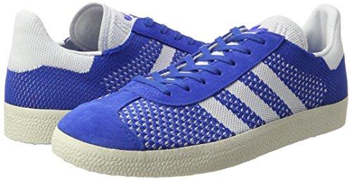 adidas Gazelle Primeknit, Zapatillas para Hombre, Azul (Blue/Footwear Chalk White), 40 EU