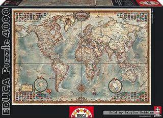 [MINIMO] Puzzle EDUCA 4000 - MapaMundi + Pegamento + PiezaPerdida
