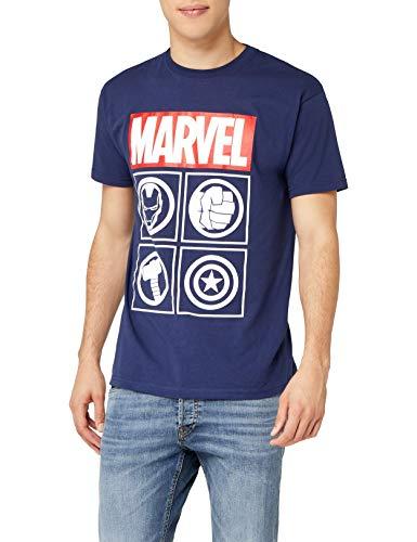 TALLAS L y XL - Marvel Avengers Icons, Camiseta para Hombre