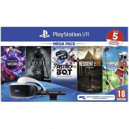 PlayStation VR Mega Pack 2 PS VR + Cámara PS4 2.0 + 5 Juegos VR