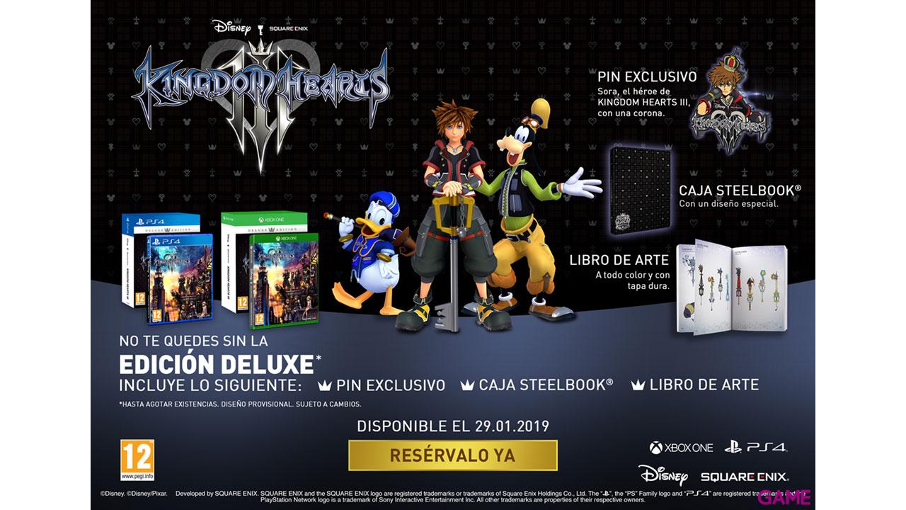 Kingdom Hearts III Deluxe Edition PS4 y Xbox One