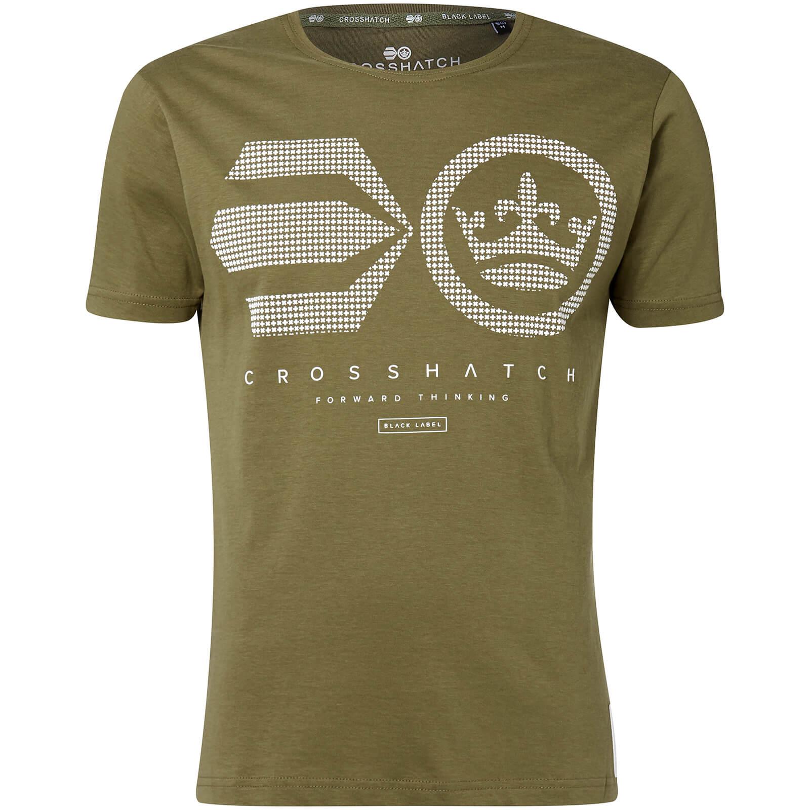 Camiseta Crosshatch Crisscross - Hombre - Verde aceituna talla S