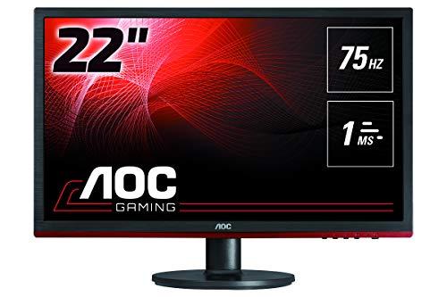 "AOC Monitores 21.5"" FHD 75Hz Flickerfree, FreeSync, 1 ms"