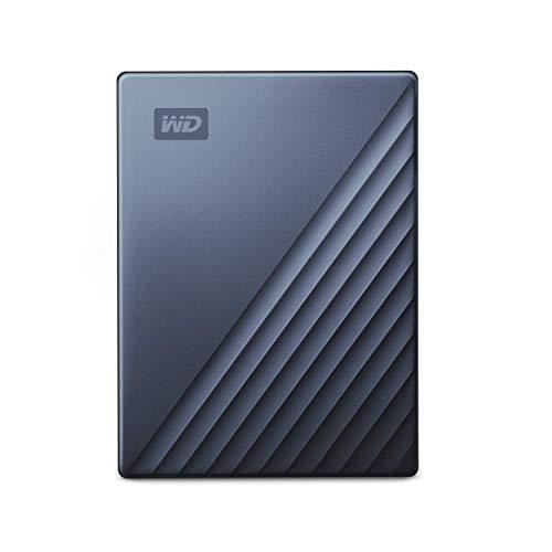 WD My Passport Ultra - Disco Duro portátil de 4 TB y USB Tipo C, Azul