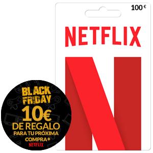 Compra 100€ Netflix = 10€regalo