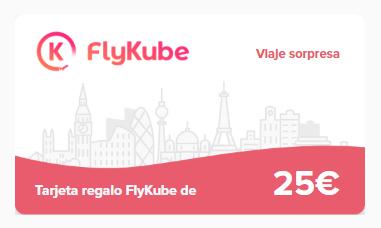 Tarjeta regalo viaje sorpresa de valor de 25€ a 1€