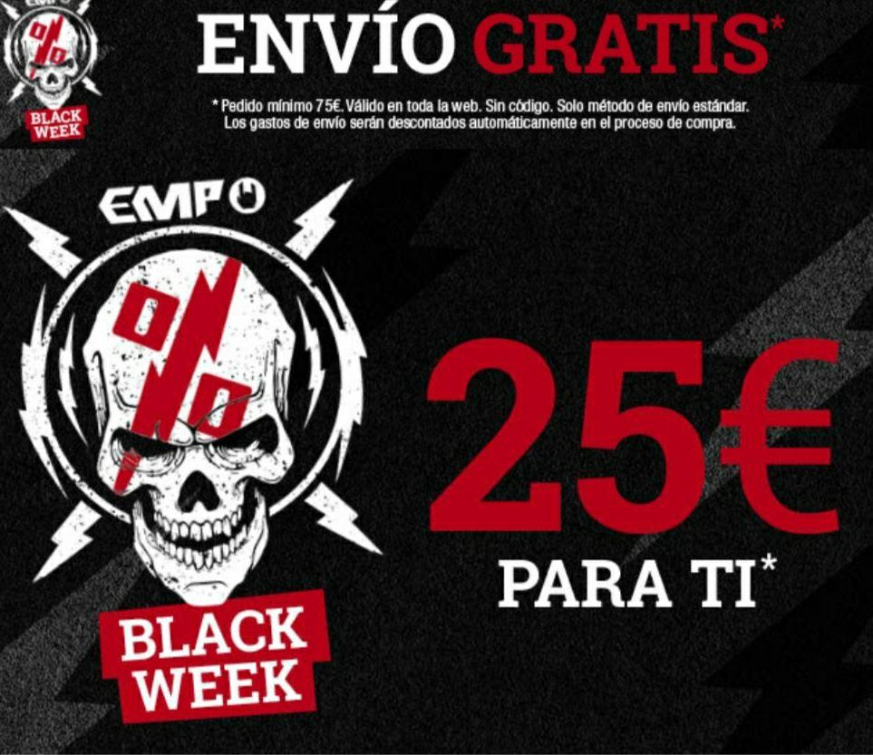 25 € de descuento en toda la web EMP y envio gratis