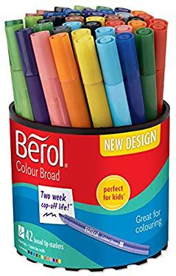 42 ROTULADORES Berol Colourbroad (COMO NUEVO)