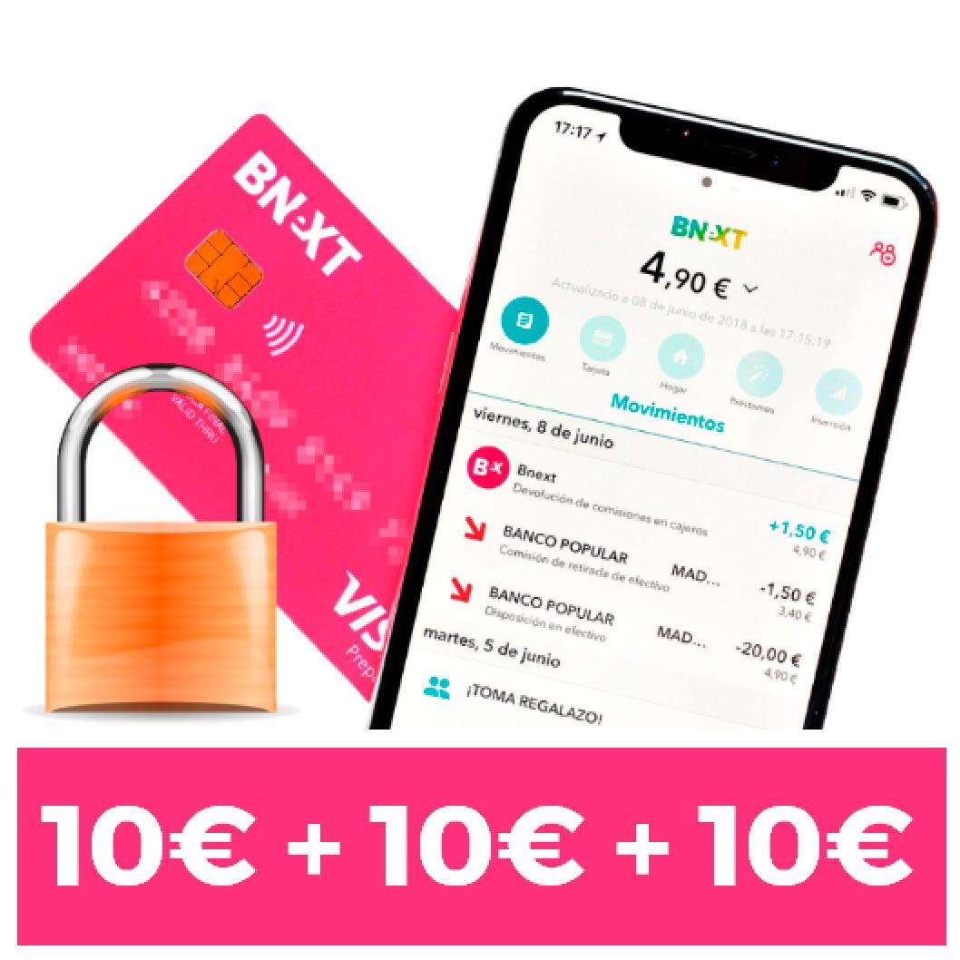 10€ + 10€ + 10€ GRATIS con Bnext estas navidades