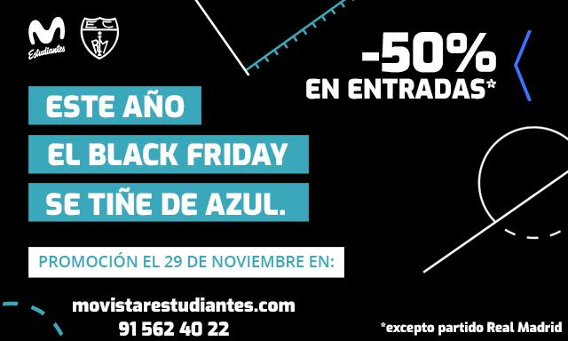 ¡Entradas al 50%! Black friday Movistar Estu