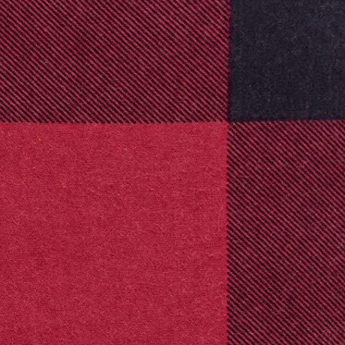 AmazonBasics - Juego de cama de franela con funda nórdica - 230 x 220 cm/50 x 80 cm x 2, Tartán rojo