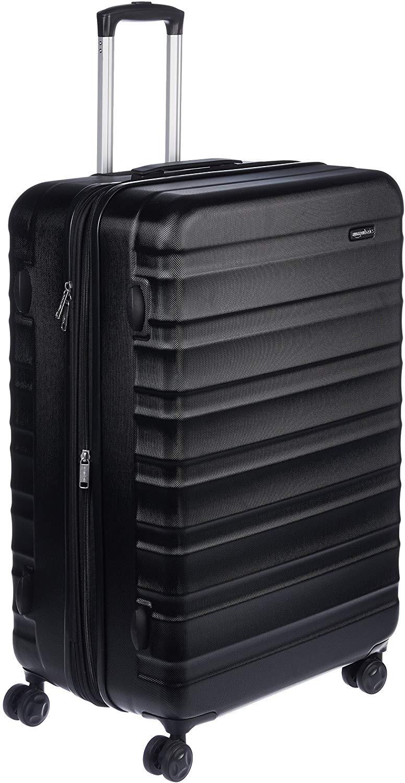 AmazonBasics - Maleta de viaje rígidaa giratoria - 78 cm, grande, Negro