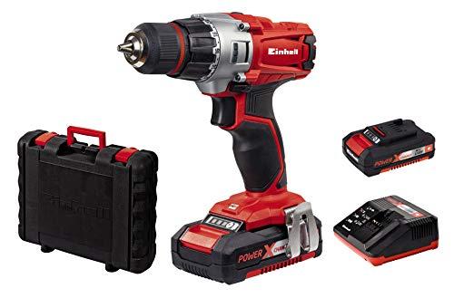 Einhell Expert Taladro Power X-Change + maletín + 2 baterías y cargador