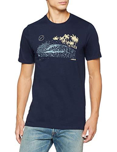 TALLAS S y L - Hurley M Core Rolling Wave SS Camiseta, Hombre