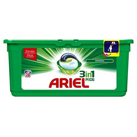 Ariel Pods 3 en 1 (48) unidades (en glovo)