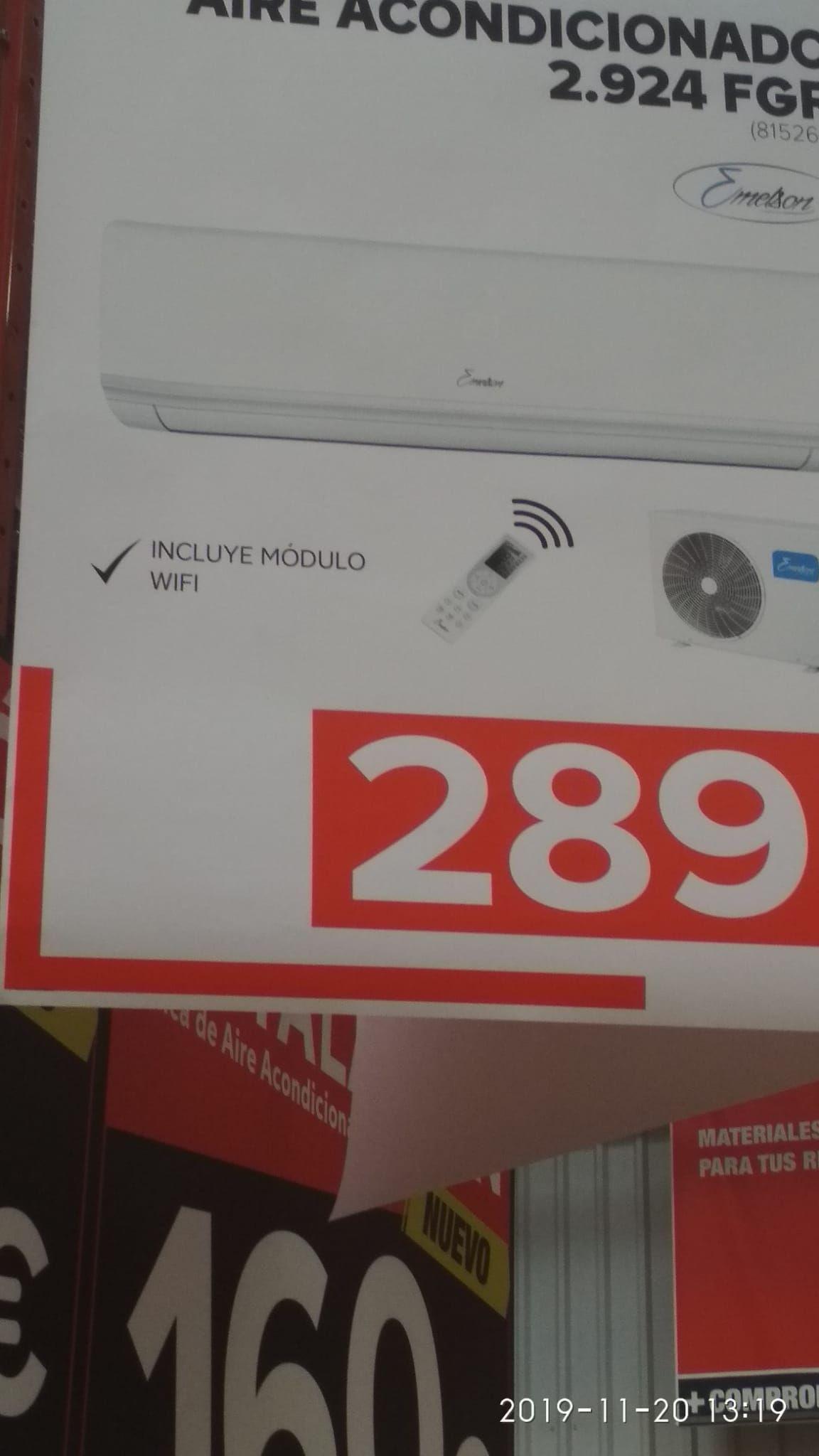 Aire acondicionado 3000frigorias +módulo wifi (Bricodepot de Alcalá de henares)