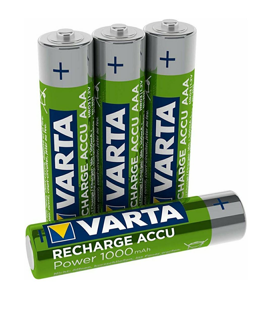 Pilas recargables Varta AAA 1000 mAh
