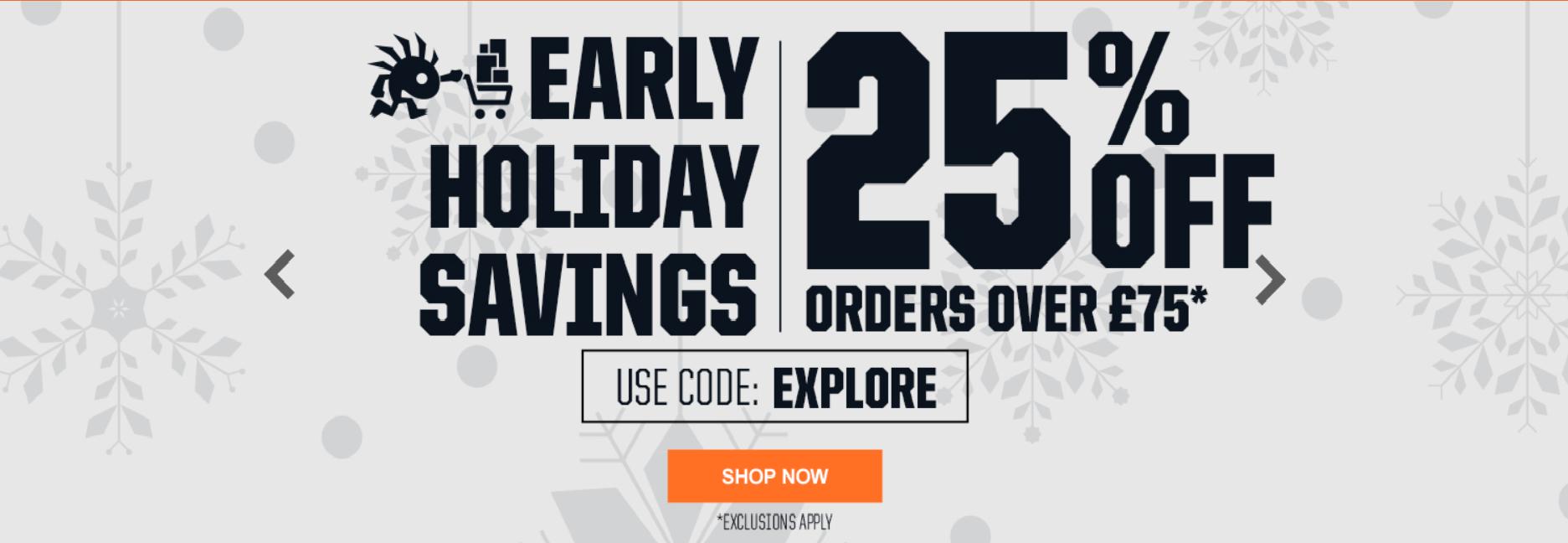 Tienda Oficial de Blizzard 25% de Descuento en compras superiores a 75 Libras