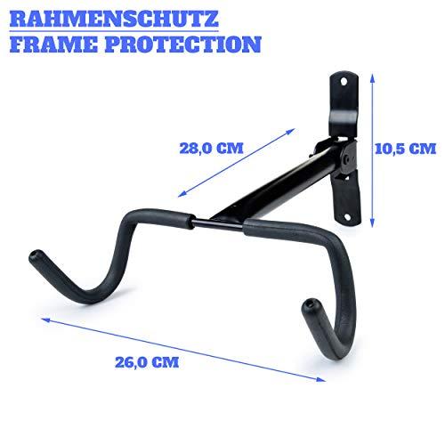 Charles Daily Soporte Bicicletas Pared Plegable - Colgador de Bici para Pared con Protección del Cuadro - Ganchos para Colgar Bicicletas