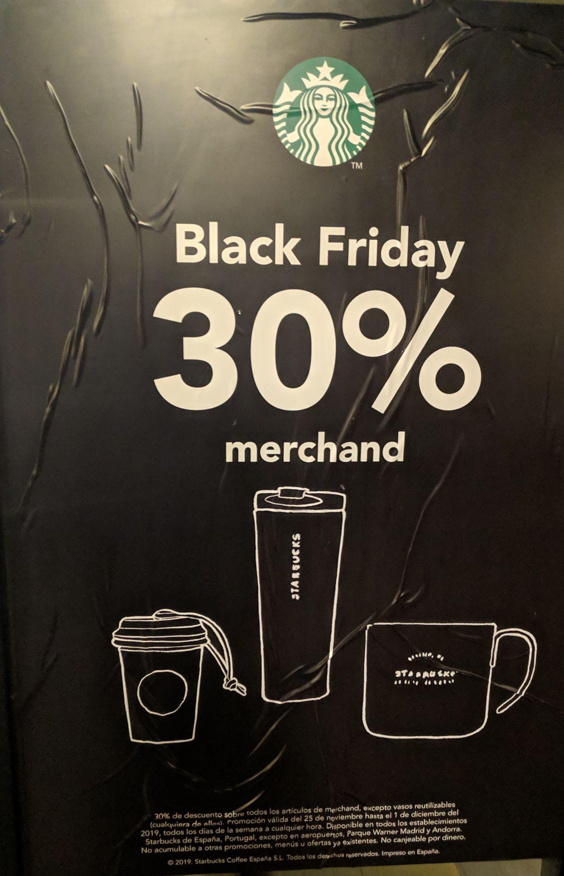 30% de descuento en Starbucks.