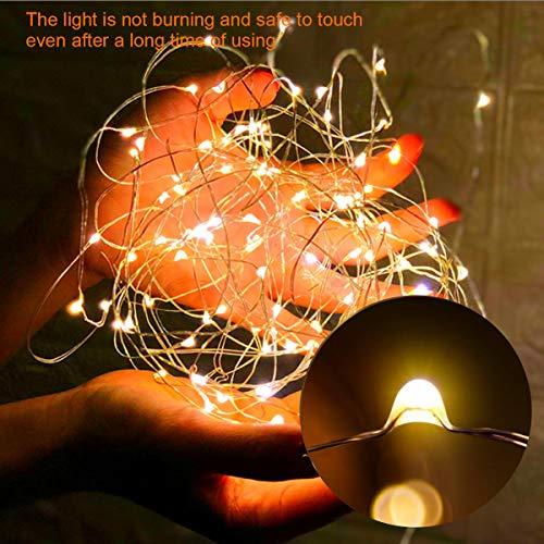 Guirnalda de luces LED para Exterior de 10M con Mando a Distancia