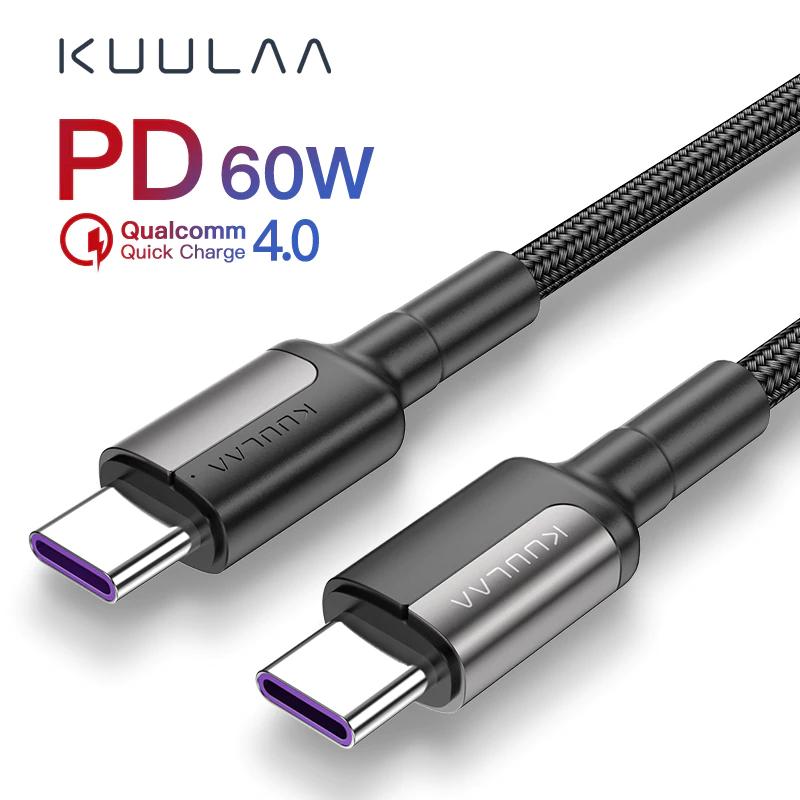 Cable USB tipo C a USB tipo C para carga rápida 60W