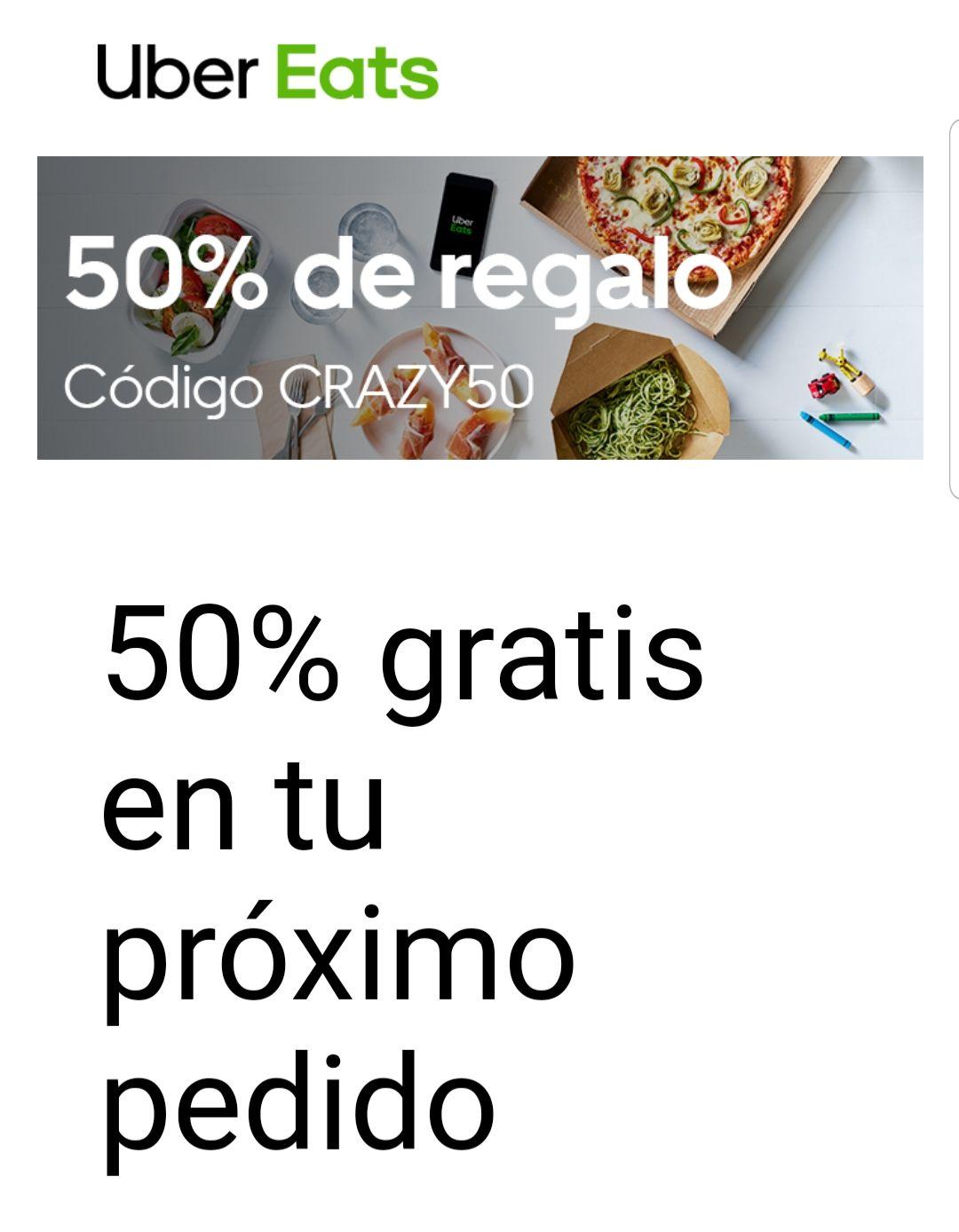 75% descuento en uber eats esta semana