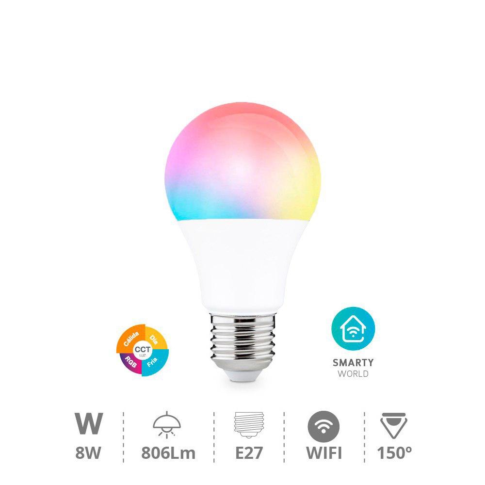 Bombilla WIFI + RGB compatible con Alexa