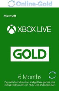 Xbox Live Gold Suscripción 6 Meses código Xbox One 360 Microsoft