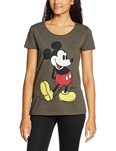 (PLUS) - TALLA M - Disney Mickey Kick Camiseta para Mujer
