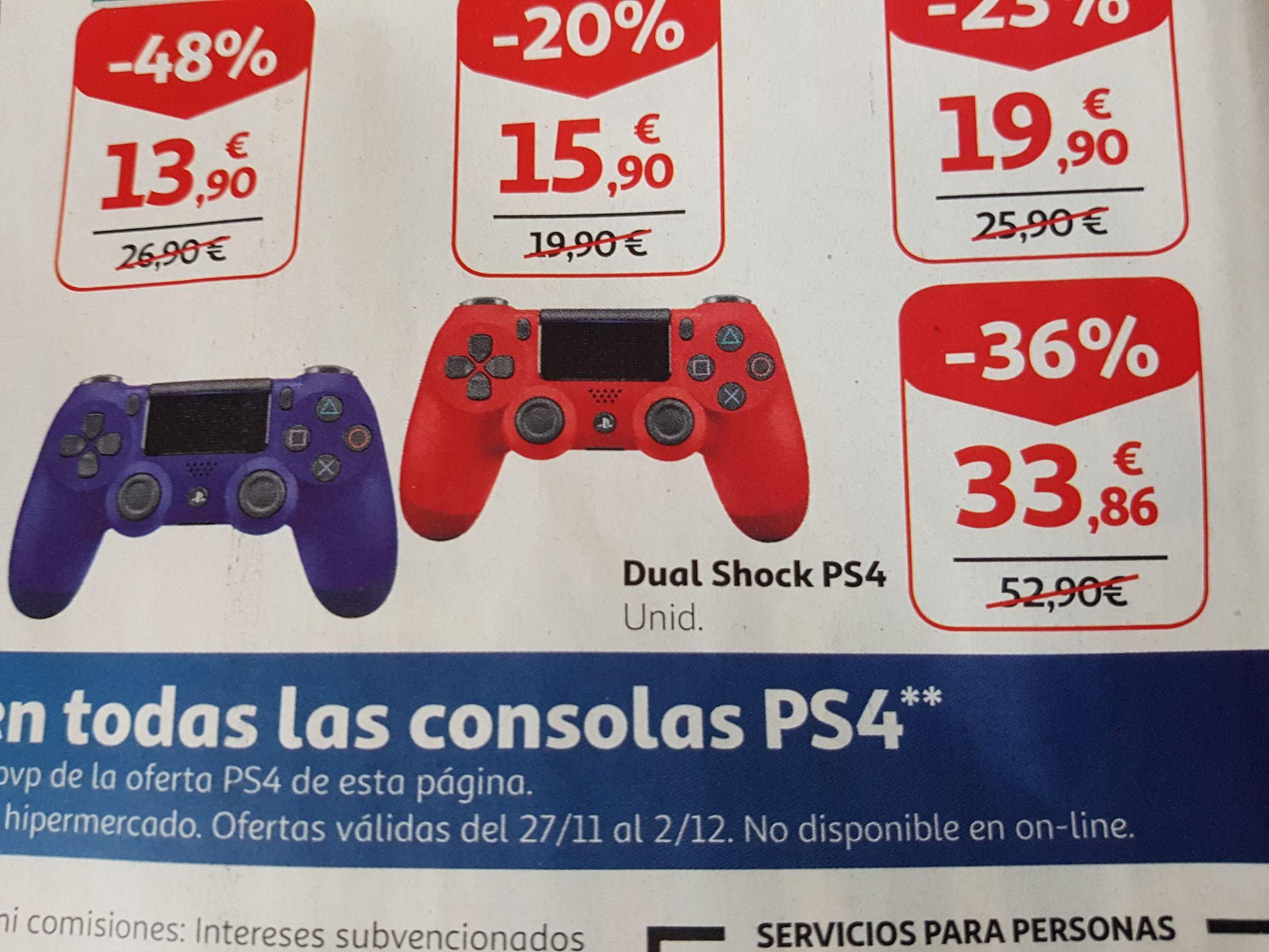 Mando Dualshock 4 para PS4 a 33,86€