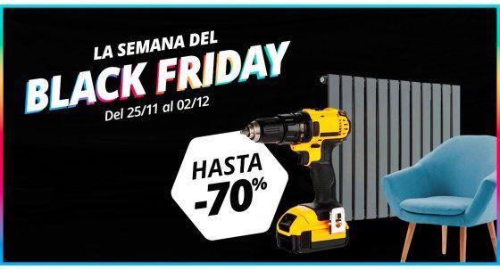 Hasta 70% en Bricolaje Black Friday