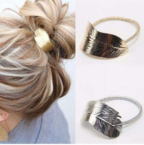 Gomilla para el pelo con hoja, 2 colores