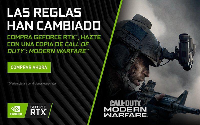 Compra GeForce RTX y consigue Call of Duty: Modern Warfare GRATIS