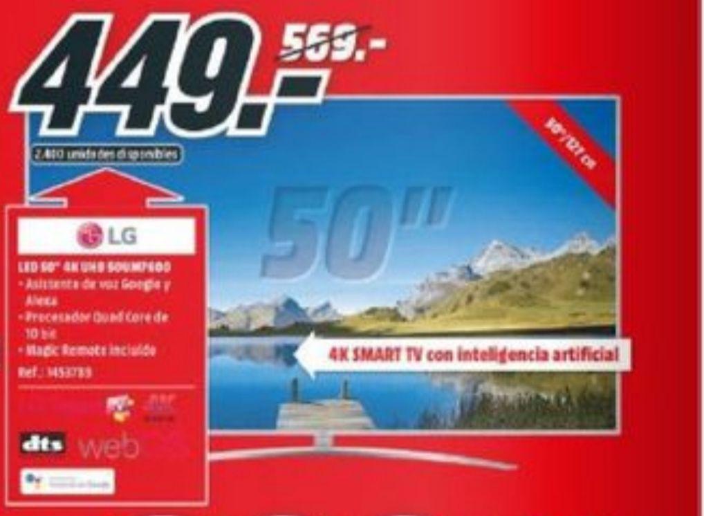 "TV LED 50"" - LG 50UM7600PLB, UHD 4K, Smart TV"