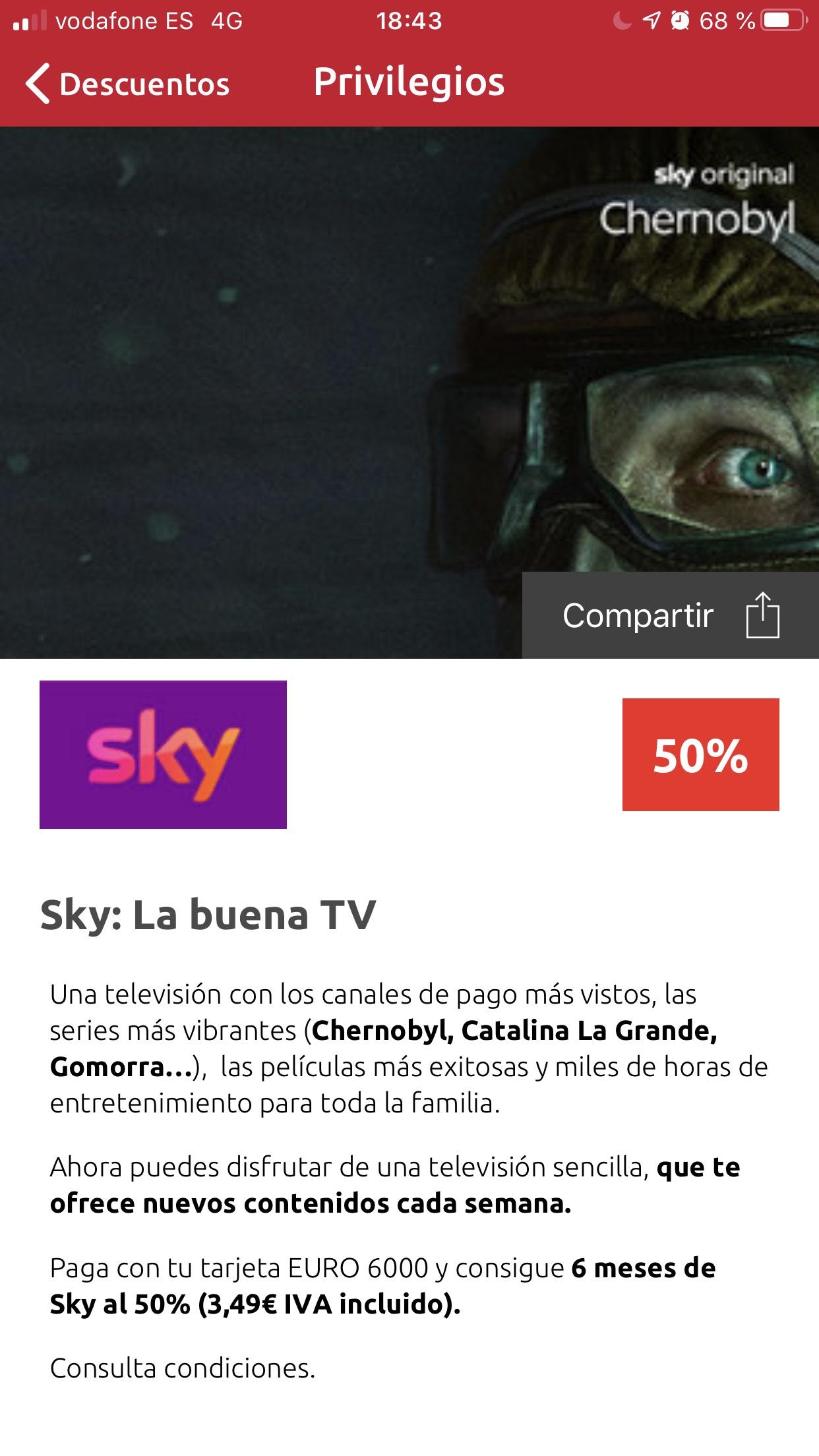 Sky -50% con euro6000