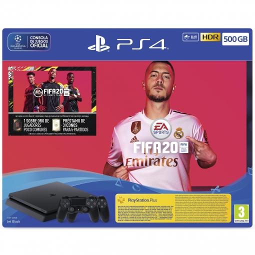 PS4 SLIM 500Gb+FIFA20+2 DUALSHOCK 4