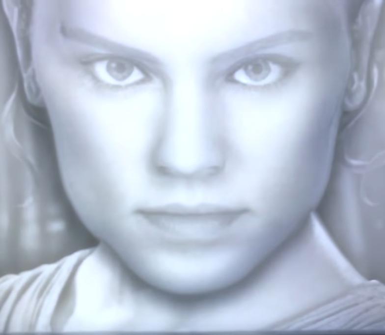 Caja de luz con efectos 3D Star Wars (REY) - Te seguirá con su mirada.
