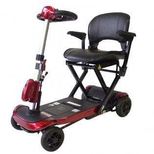 Scooter Ortopedia Plegable Deluxe para adultos| Sistema automático con mando | Auton. 15Km | Rojo | Ulises | Mobiclinic
