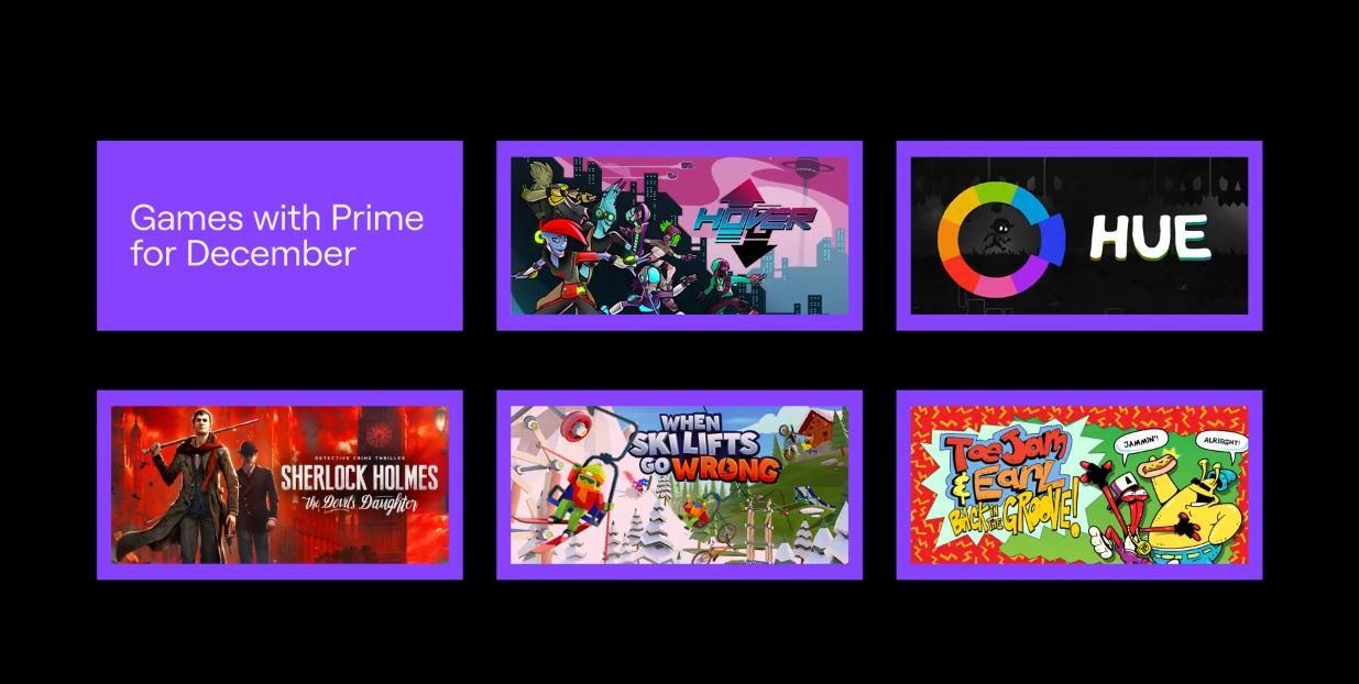 Twitch Prime 5 juegos GRATIS Diciembre