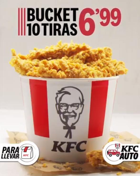 Bucket de 10 tiras en KFC por 6,99€
