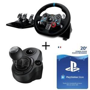 Pack Volante PS4/PC Logitech G29 + Shifter + 20€ PSN