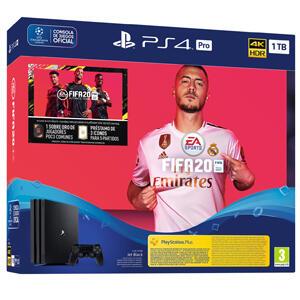 Playstation 4 PRO 1TB + Mando dualshock 4 v2 + FIFA 20 Ultimate Team + PS Plus 14 Días